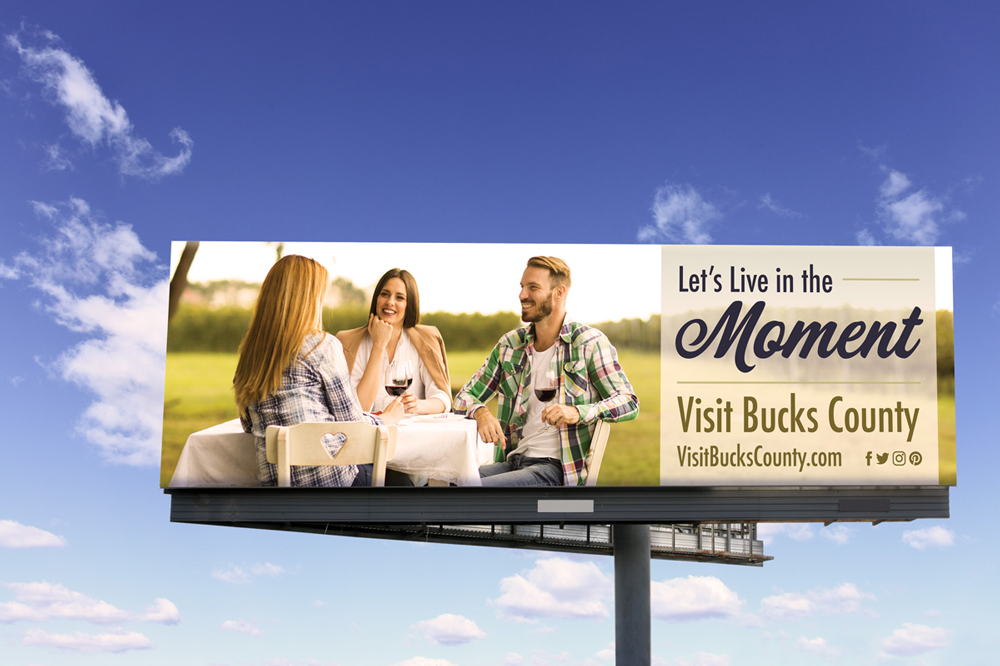 Visit Bucks County billboard mock-up